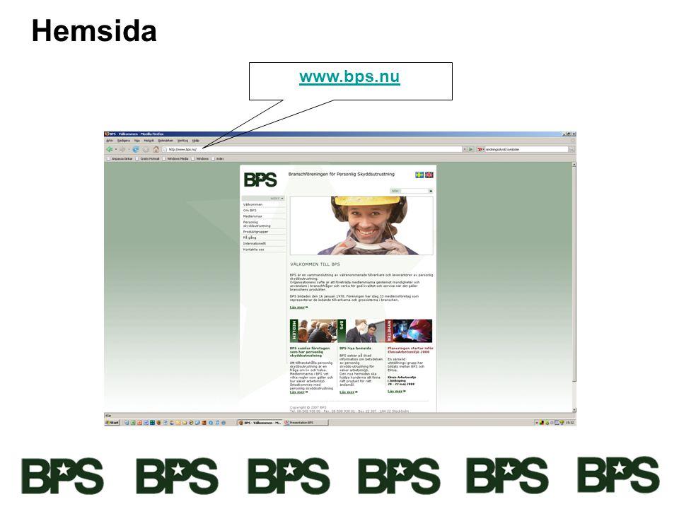 Hemsida www.bps.nu
