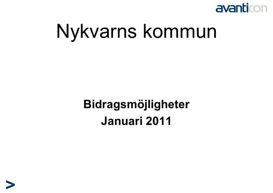 Nykvarns kommun Bidragsmöjligheter Januari 2011