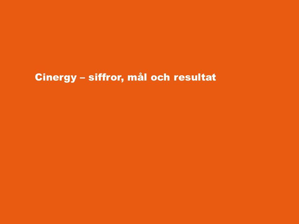 Sifferfakta Pågår från januari 2011 till och med december 2013 Budget: 1 443 786 euro Sju partners i tre länder Två tjänster utvecklas i projektet – Creative Agency och Cinergy Tool Kit