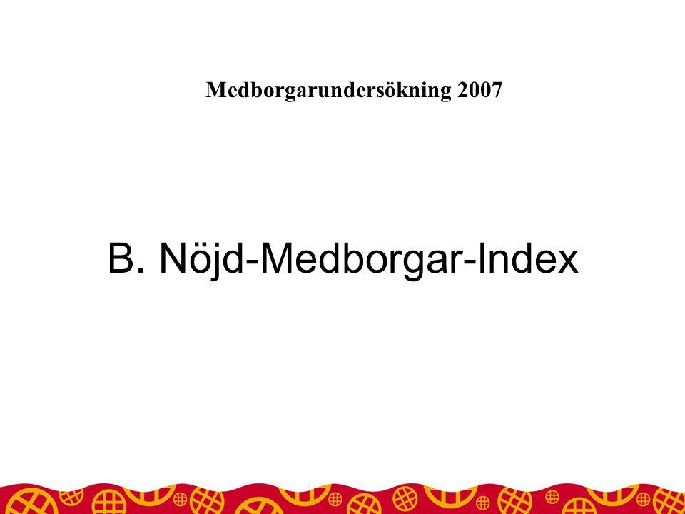 B. Nöjd-Medborgar-Index Medborgarundersökning 2007