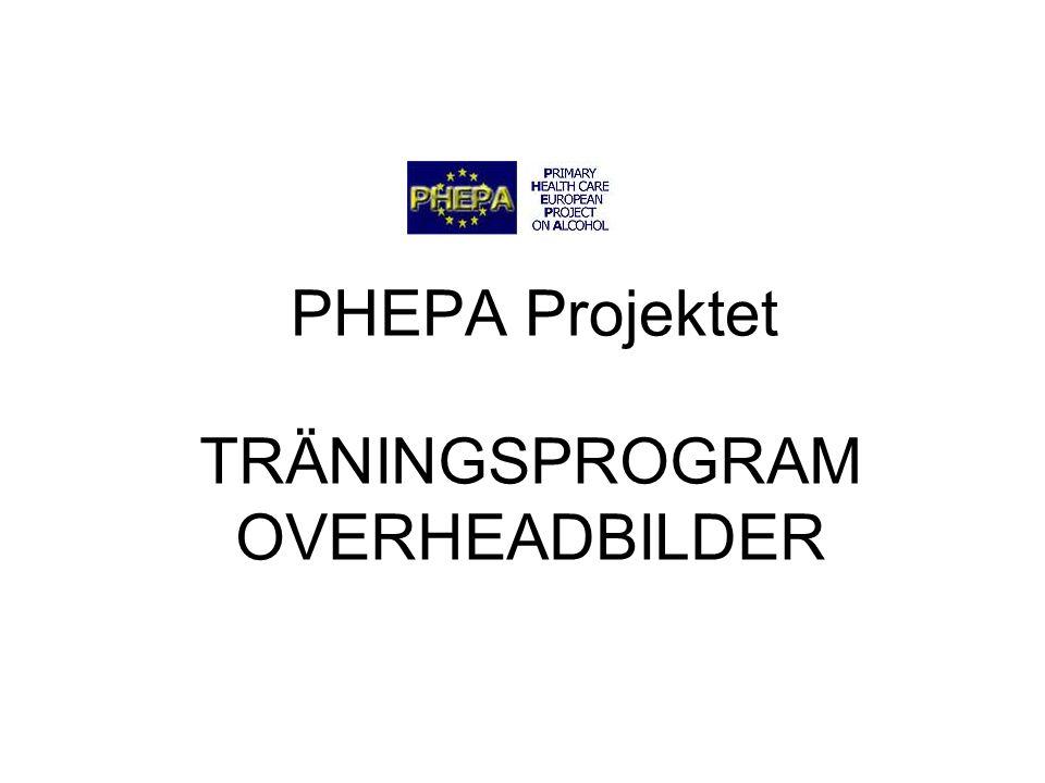 TRÄNINGSPROGRAM OVERHEADBILDER PHEPA Projektet