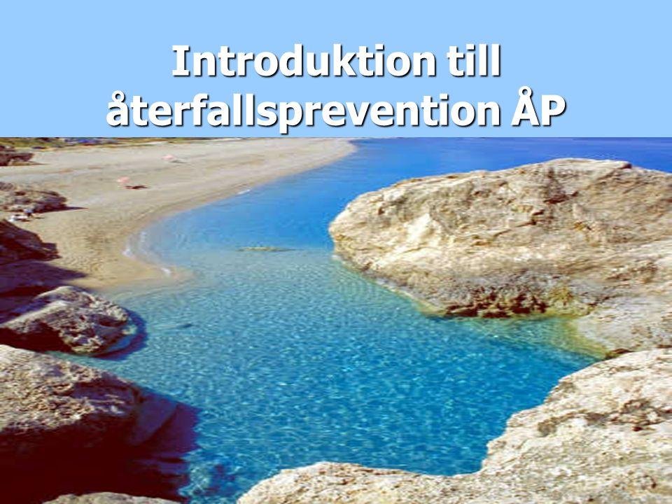Introduktion till återfallsprevention ÅP