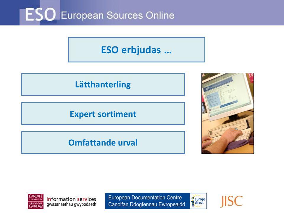 Lätthanterling Expert sortiment Omfattande urval ESO erbjudas …