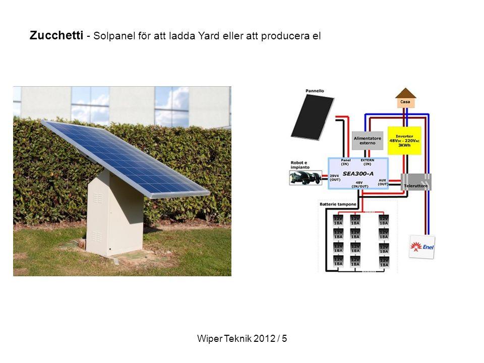 Zucchetti - Solpanel för att ladda Yard eller att producera el Wiper Teknik 2012 / 5