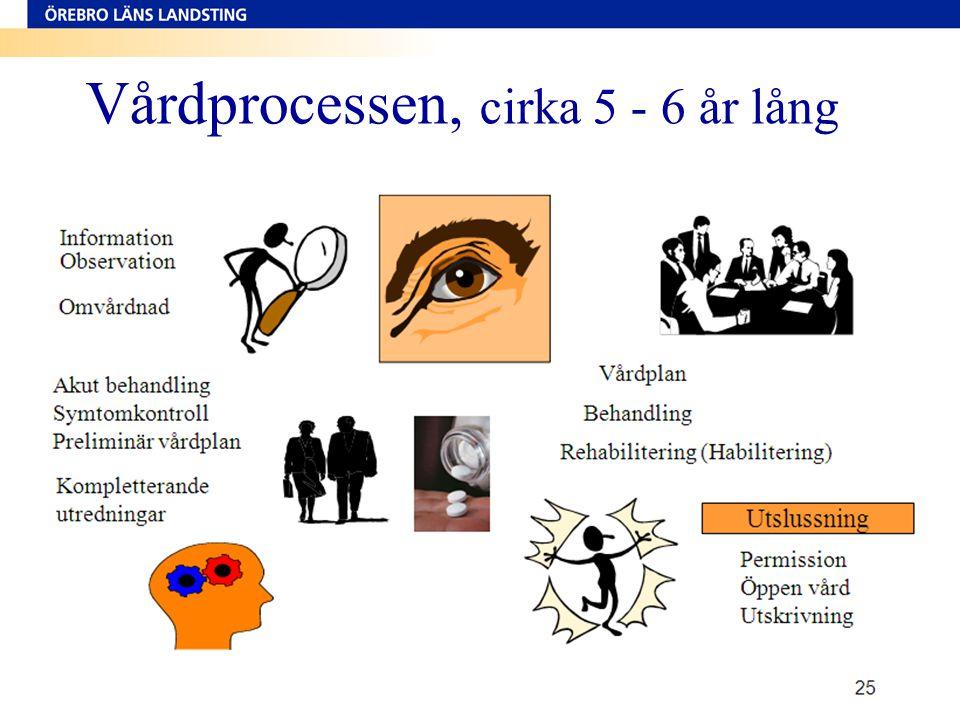 24 Vårdprocessen, cirka 5 - 6 år lång