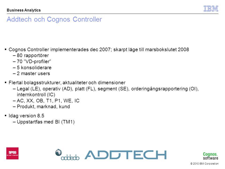 © 2010 IBM Corporation Business Analytics Utdata rapport