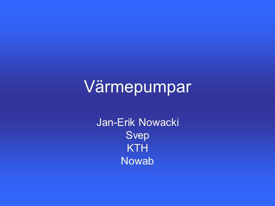 Värmepumpar Jan-Erik Nowacki Svep KTH Nowab