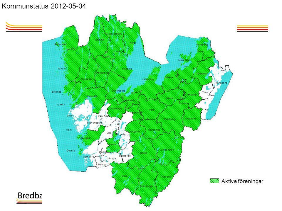 Aktiva föreningar Kommunstatus 2012-05-04