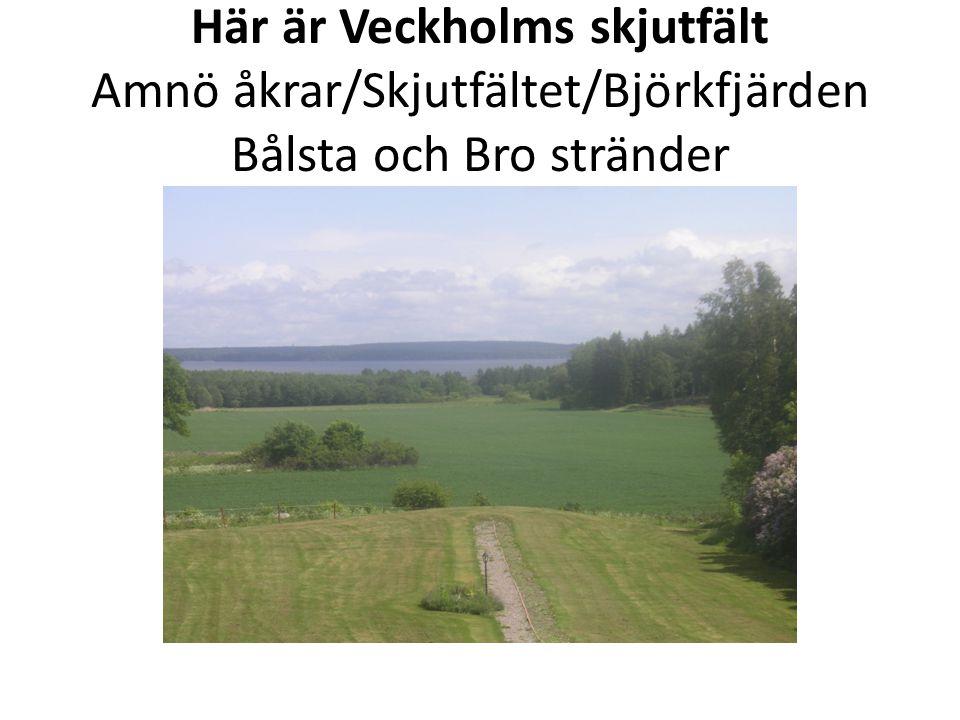 I skjutriktningen Håbo och Bro byggs det.