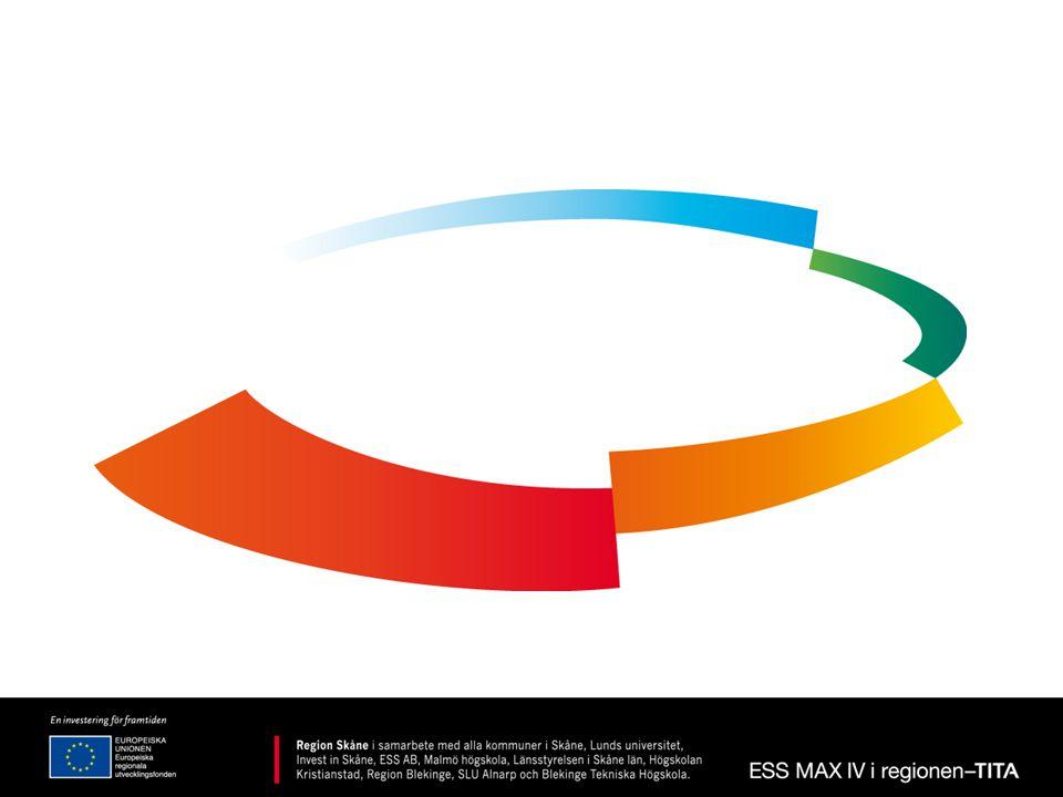 ESS MAX IV i regionen - TITA •Syftet är att stärka Tillväxten, Innovationsstrukturen, Tillgängligheten och Attraktiviteten i regionen som ett led i etableringen av forskningsanläggningarna ESS och MAX IV.