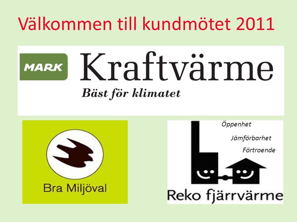 Välkommen till kundmötet 2011 Öppenhet Jämförbarhet Förtroende