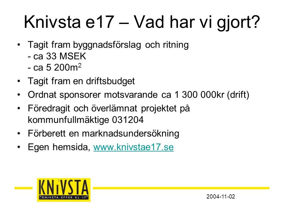 2004-11-02 Knivsta e17 – Vad har vi gjort.