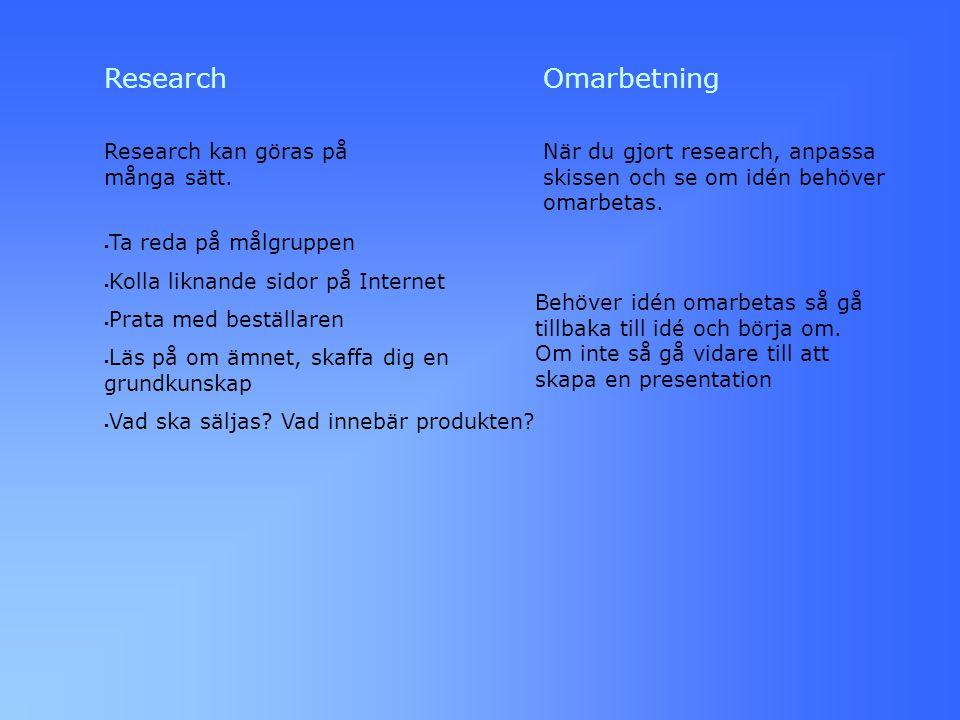 Research Research kan göras på många sätt.