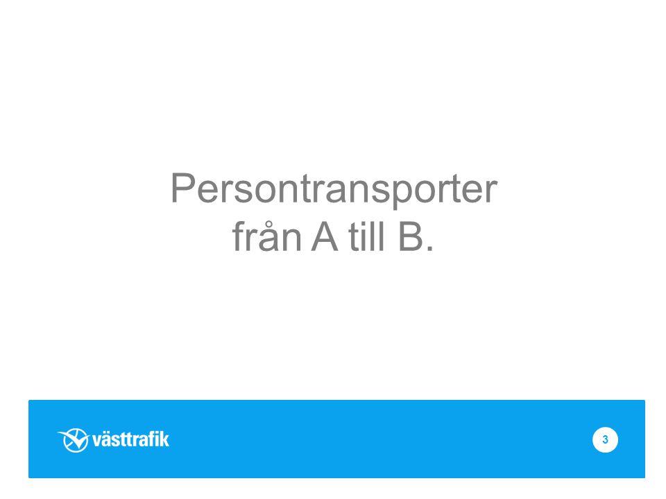 Persontransporter från A till B. 3