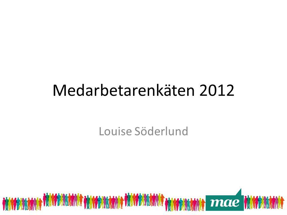 Medarbetarenkäten 2012 Louise Söderlund