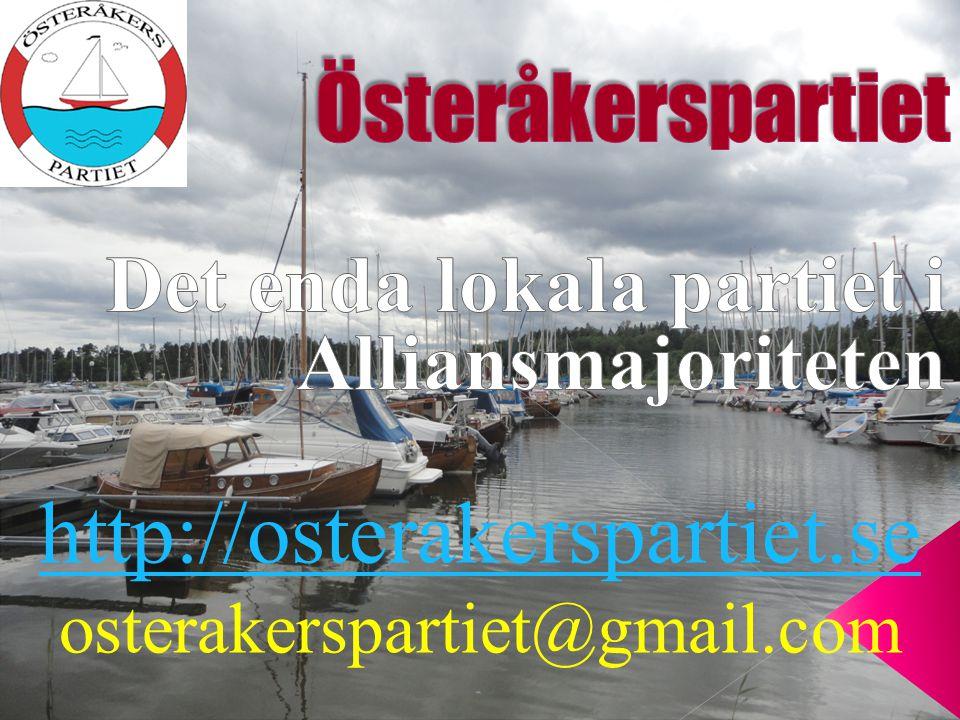 http://osterakerspartiet.se osterakerspartiet@gmail.com