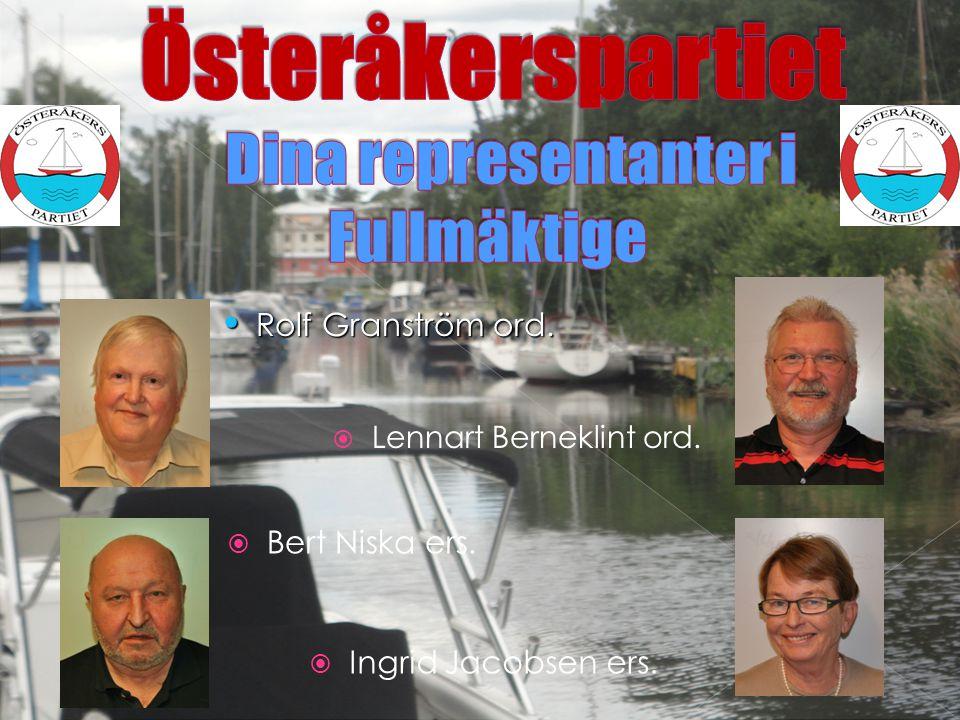 LLennart Berneklint ord.  Bert Niska ers.  Ingrid Jacobsen ers. • Rolf Granström ord.