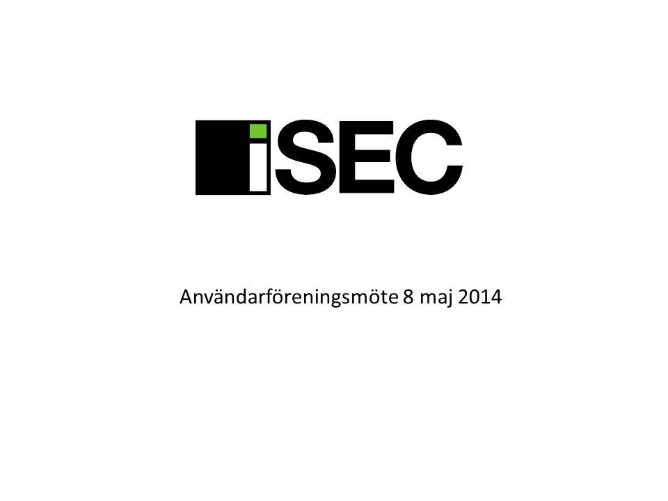 Användarföreningsmöte 8 maj 2014