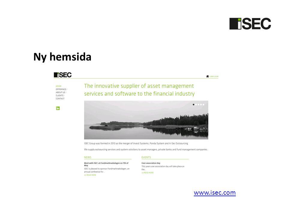 Ny hemsida www.isec.com