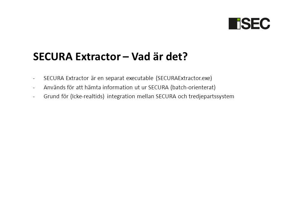 SECURA Extractor – Vad är det.