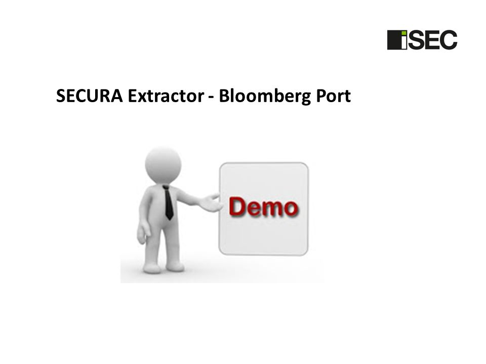 SECURA Extractor - Bloomberg Port