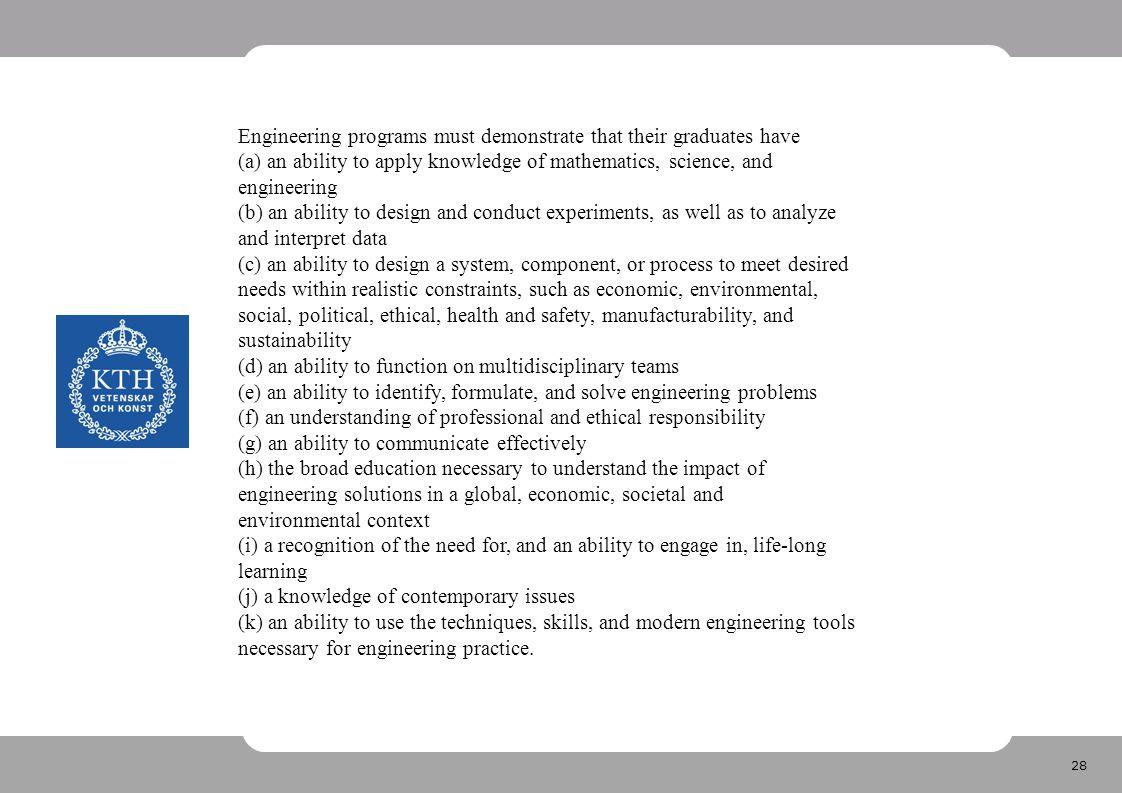 29 CDIO Syllabus •CDIO Syllabus •1.TECHNICAL KNOWLEDGE AND REASONING •1.1.
