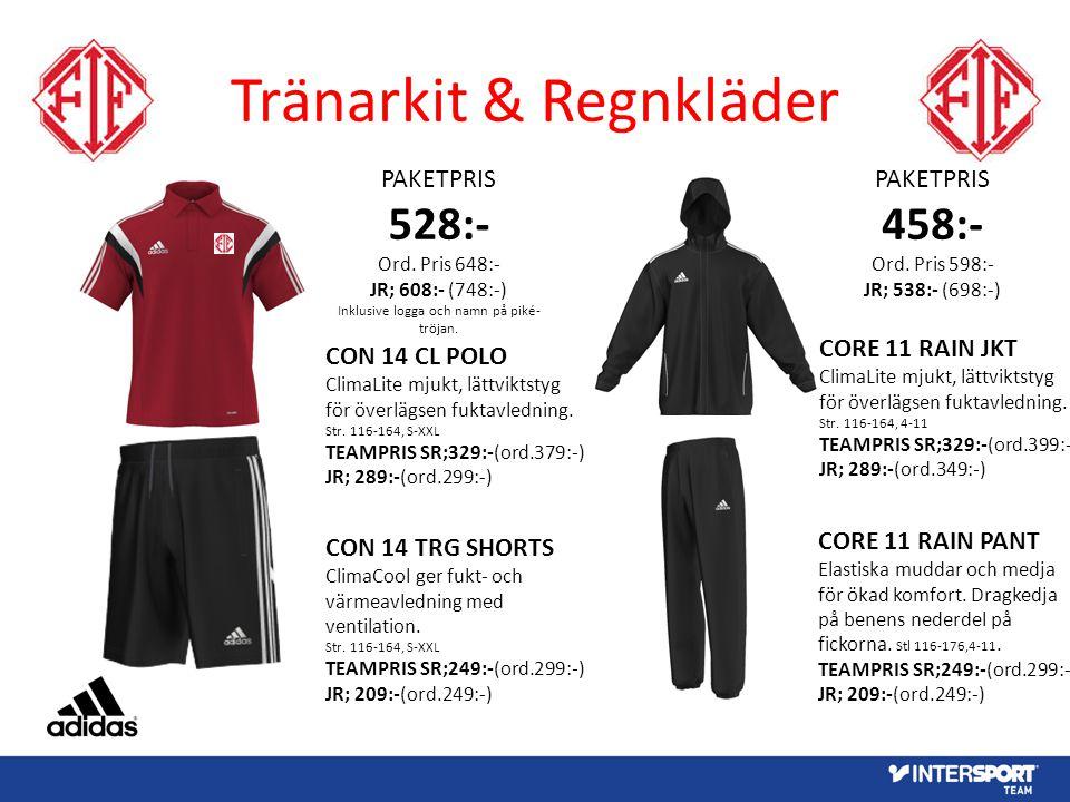 Tränarkit & Regnkläder PAKETPRIS 528:- Ord.
