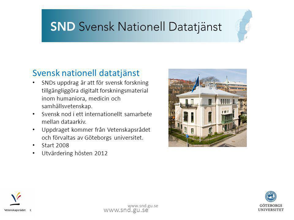 www.snd.gu.se Nationellt samarbete
