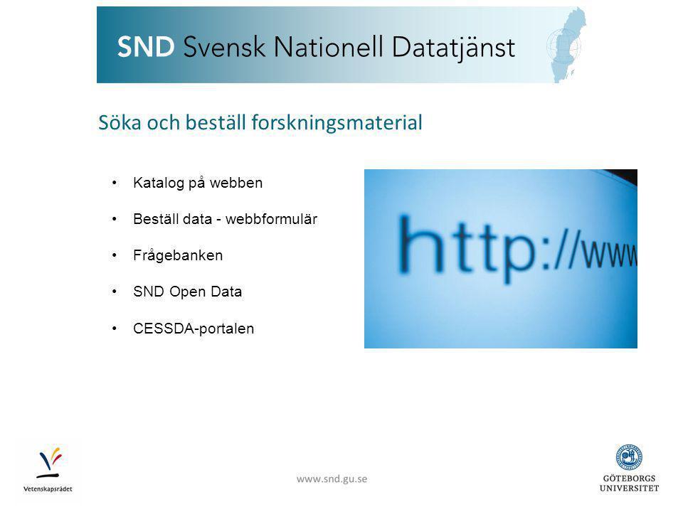 www.snd.gu.se Internationellt samarbete