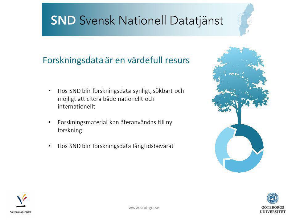 www.snd.gu.se Forskningssupport