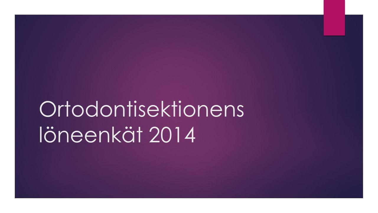 Ortodontisektionens löneenkät 2014