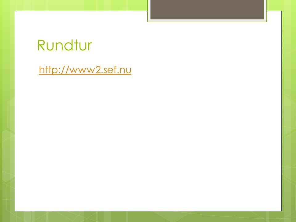 Rundtur http://www2.sef.nu