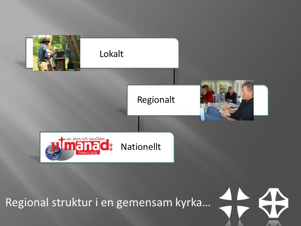 Regional struktur i en gemensam kyrka… Lokalt Regionalt Nationellt