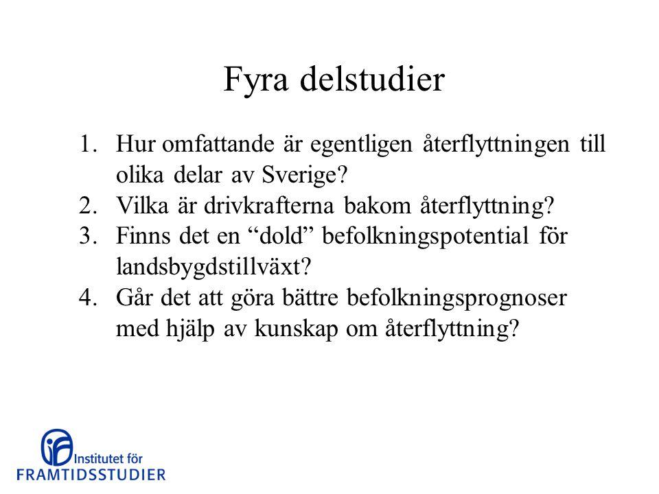 Resultat 1.Hur omfattande är egentligen återflyttningen till olika delar av Sverige.