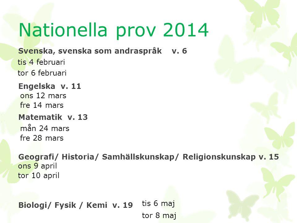 Nationella prov 2014 Svenska, svenska som andraspråk v.