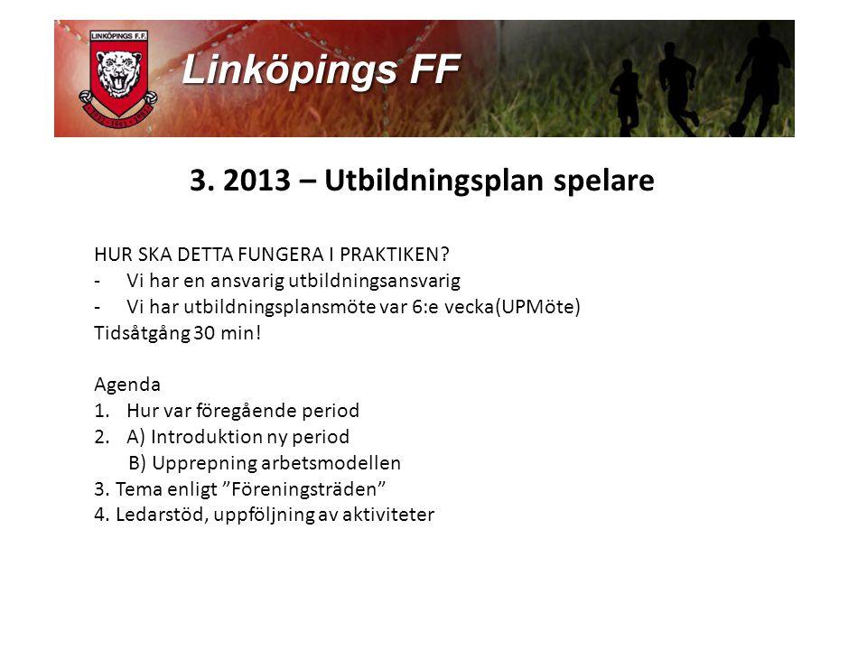 3.2013 – Utbildningsplan spelare HUR SKA DETTA FUNGERA I PRAKTIKEN.