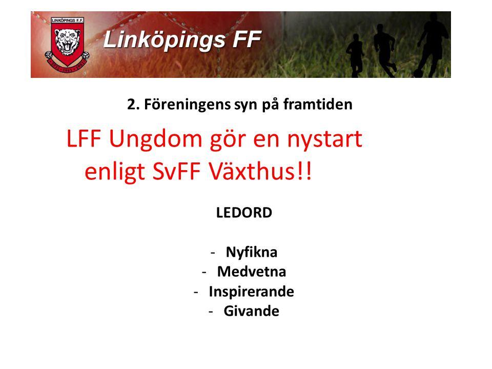 2.Föreningens syn på framtiden LFF Ungdom gör en nystart enligt SvFF Växthus!.