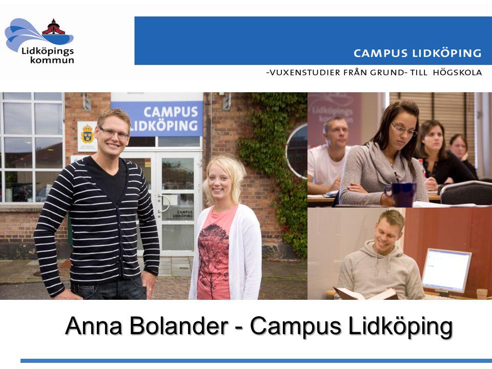 Anna Bolander - Campus Lidköping