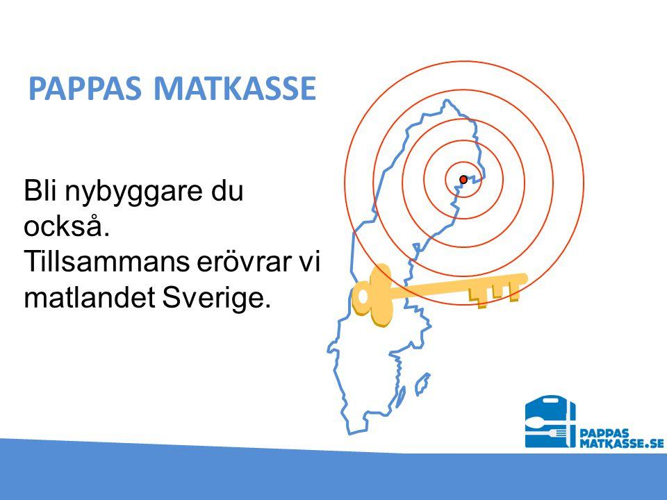 PAPPAS MATKASSE Bli nybyggare du också. Tillsammans erövrar vi matlandet Sverige.