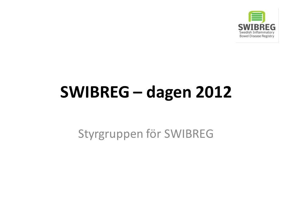Dagens program 10.00-10.10Introduktion (Roger Mellin, Pär Myrelid) 10.10-10.20 SWIBREG – organisation (Hans Strid) 10.20-10.40 SWIBREG – ekonomi, hemsida, mm (Pär Myrelid, Anna Lindhoff Larsson) 10.40-11.00 Varför SWIBREG/IBD care .
