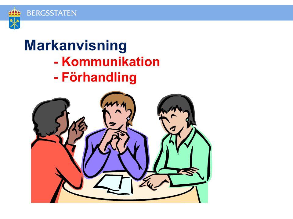 Markanvisning - Kommunikation - Förhandling