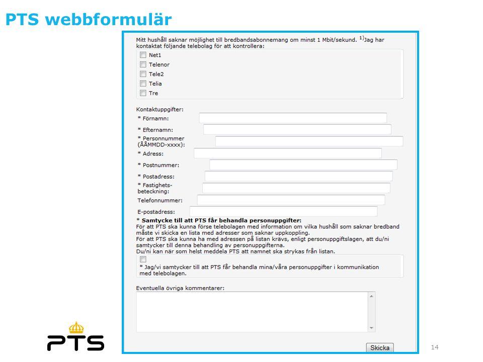 PTS webbformulär 14