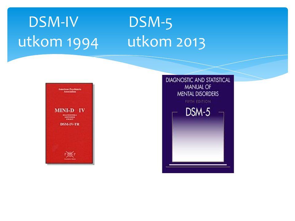 DSM-IV DSM-5 utkom 1994 utkom 2013