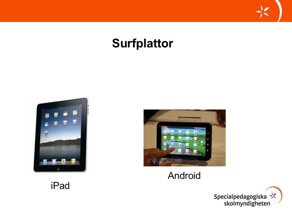 Surfplattor iPad Android