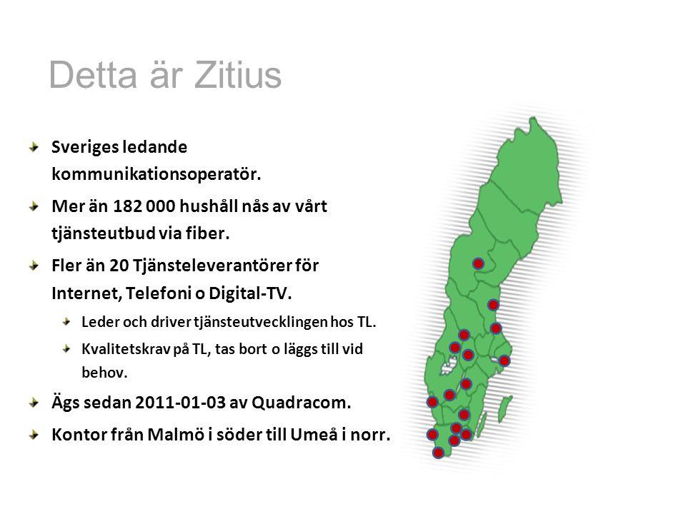 Sveriges ledande kommunikationsoperatör. Mer än 182 000 hushåll nås av vårt tjänsteutbud via fiber. Fler än 20 Tjänsteleverantörer för Internet, Telef