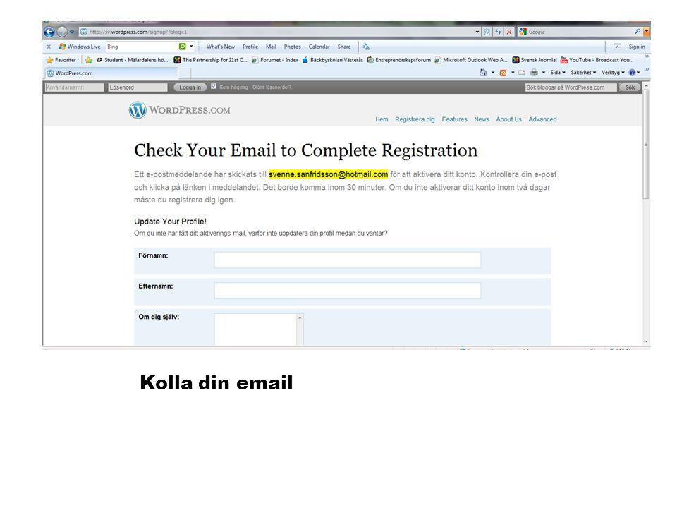 Klicka på länken i mailet