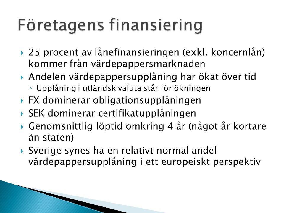  25 procent av lånefinansieringen (exkl.