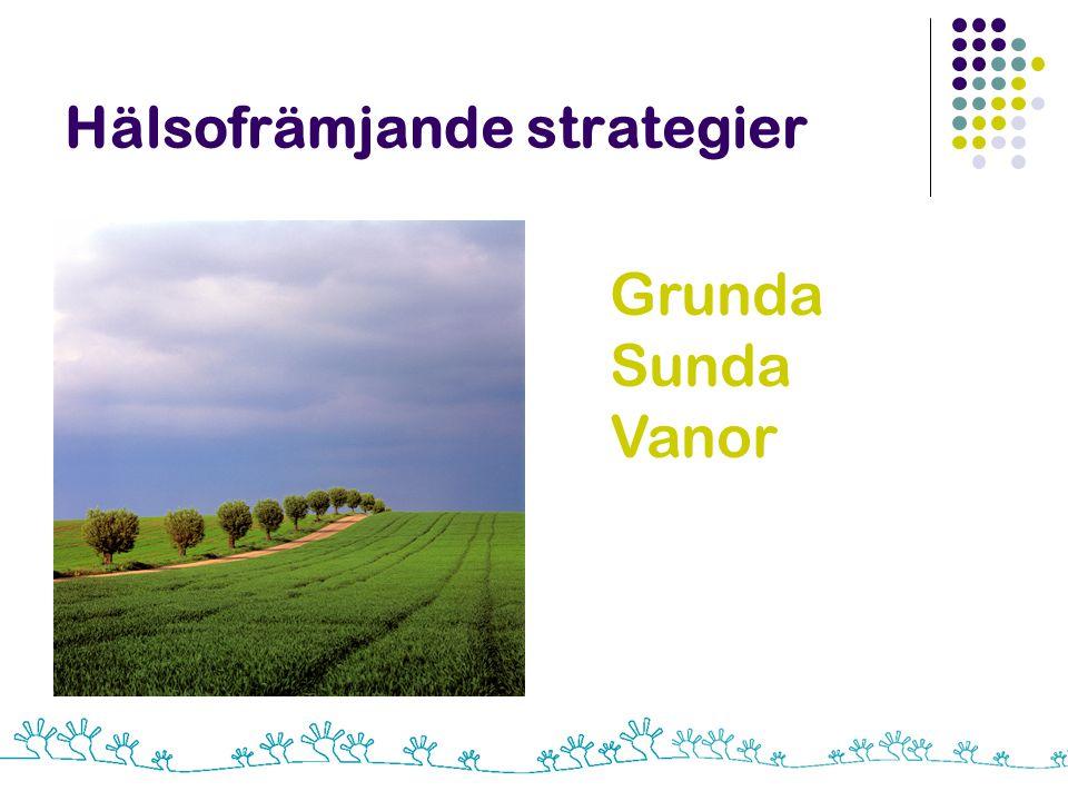 Hälsofrämjande strategier Grunda Sunda Vanor