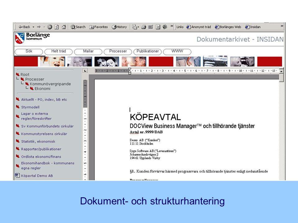 Dokument- och strukturhantering