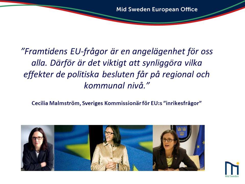 """""""Framtidens EU-frågor är en angelägenhet för oss alla. Därför är det viktigt att synliggöra vilka effekter de politiska besluten får på regional och k"""